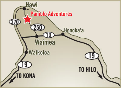 Paniolo Adventures Driving Map